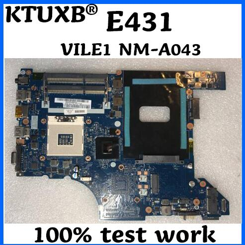 KTUXB VILE1 NM A043 motherboard for Lenovo ThinkPad E431 notebook motherboard PGA989 HM77 DDR3 100 test