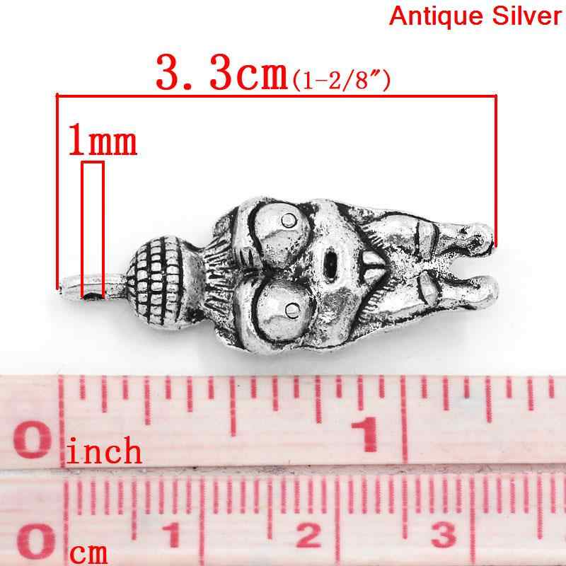 DoreenBeads, colgantes de aleación de Zinc, Venus de Willendorf, diosa de la fertilidad, premamá, Color plata antigua, 3,3 cm x 12mm, 3 uds
