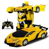 Transformation Robots RC Sports Car Models Remote Control Deformation Robots Car RC New Year S Gifts