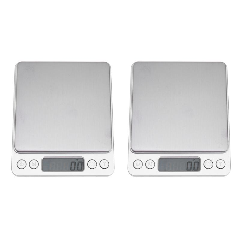 3kg/2kg 0.1g Digital Scale Jewelry Kitchen Balance Electronic LED Luminous Mini LCD Display Weighing Tool Backlight