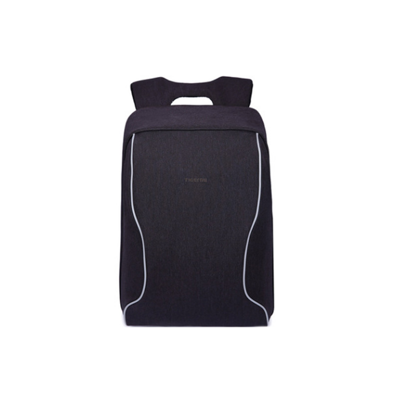 2017 Anti theft 2017 Couple Women Men Backpack 15 Inch Computer Bags Anti Theft Black Grey Oxford Breathable Fabric