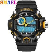 2016 Marca De Luxo Homens Esportes Relógios LED Digital Relógio S CHOQUE Homens Relógio de Quartzo Moda Casual Militar Do Exército Relógio de Pulso Reloj