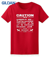 T Shirts Man Clothing Free Shipping I M A Crazy Beagle Lady Dog Lover S Ladies