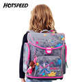 Brand New Girls Grade 3-6 Ultralight Orthopedic Children Backpack Nylon Waterproof Breaths School Bags with Cute Doll Pendant