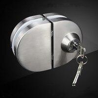 High quality stainless steel door lock single door Double door glass door lock Furniture hardware accessories