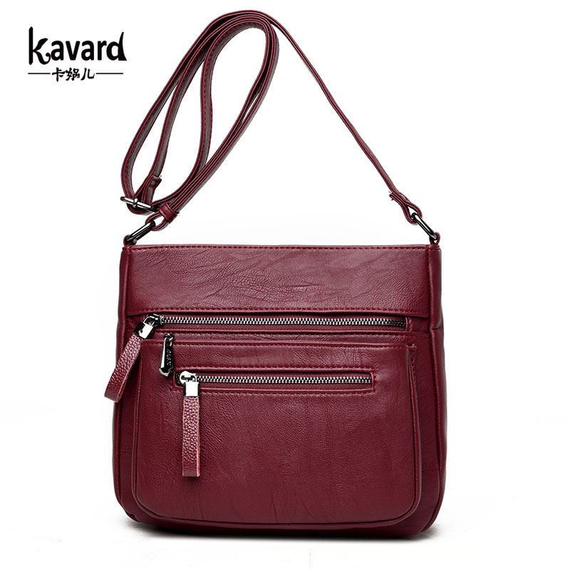 Kavard Women Messenger Bags High Quality Woman Leather Handbags Small Flap Purses Bags Handbags Women Famous