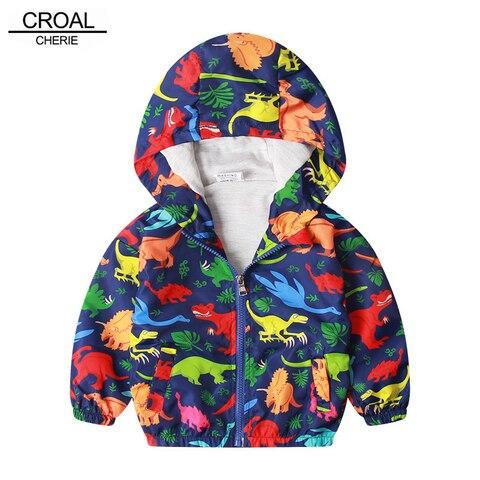 croal cherie jaqueta de algodao para criancas meninos blusao dinossauro dos desenhos animados outono criancas
