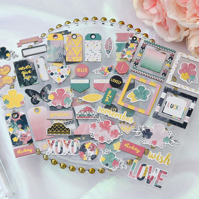 Kscraft never give up 3d die cut self adhesive stickers for scrapbooking happy planner