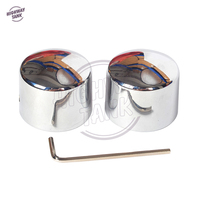 Chrome Motorcycle Front Axle Nut Cover Bolt Case For Harley Electra Glide Heritage Softail