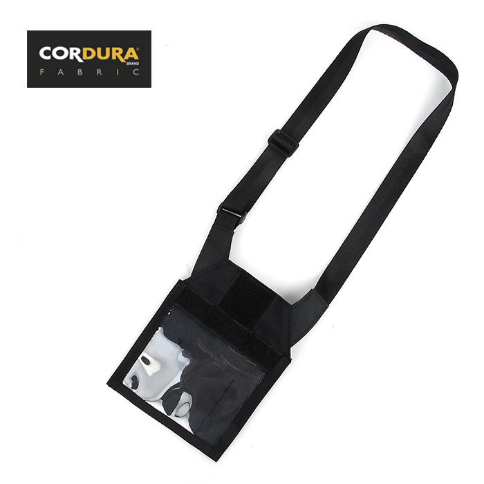 Cordura Tactical Neck ID Badge Holder Utility Organizer Admin Pouch(XTC051071) ...