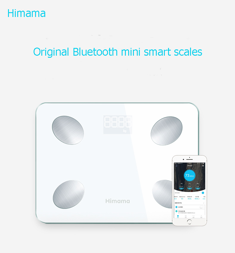 Free Shipping Himama Mini Body Fat Smart Scale Household Electronic Digital Weight Floor Scales Support Bluetooth APP 27cm*20cm