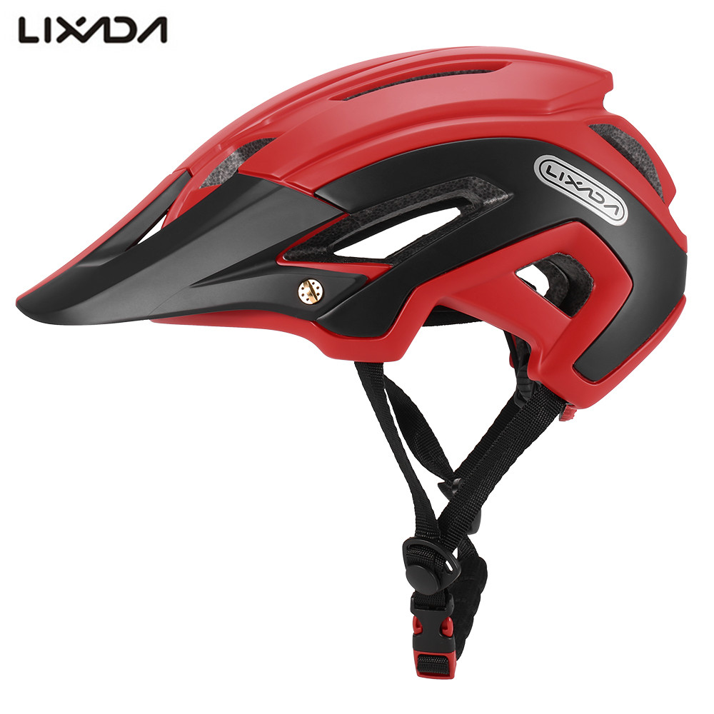 Lixada 2018 Bicycle Helmet with Detachable Visor Adjustable16 Vents MTB Bike Sports