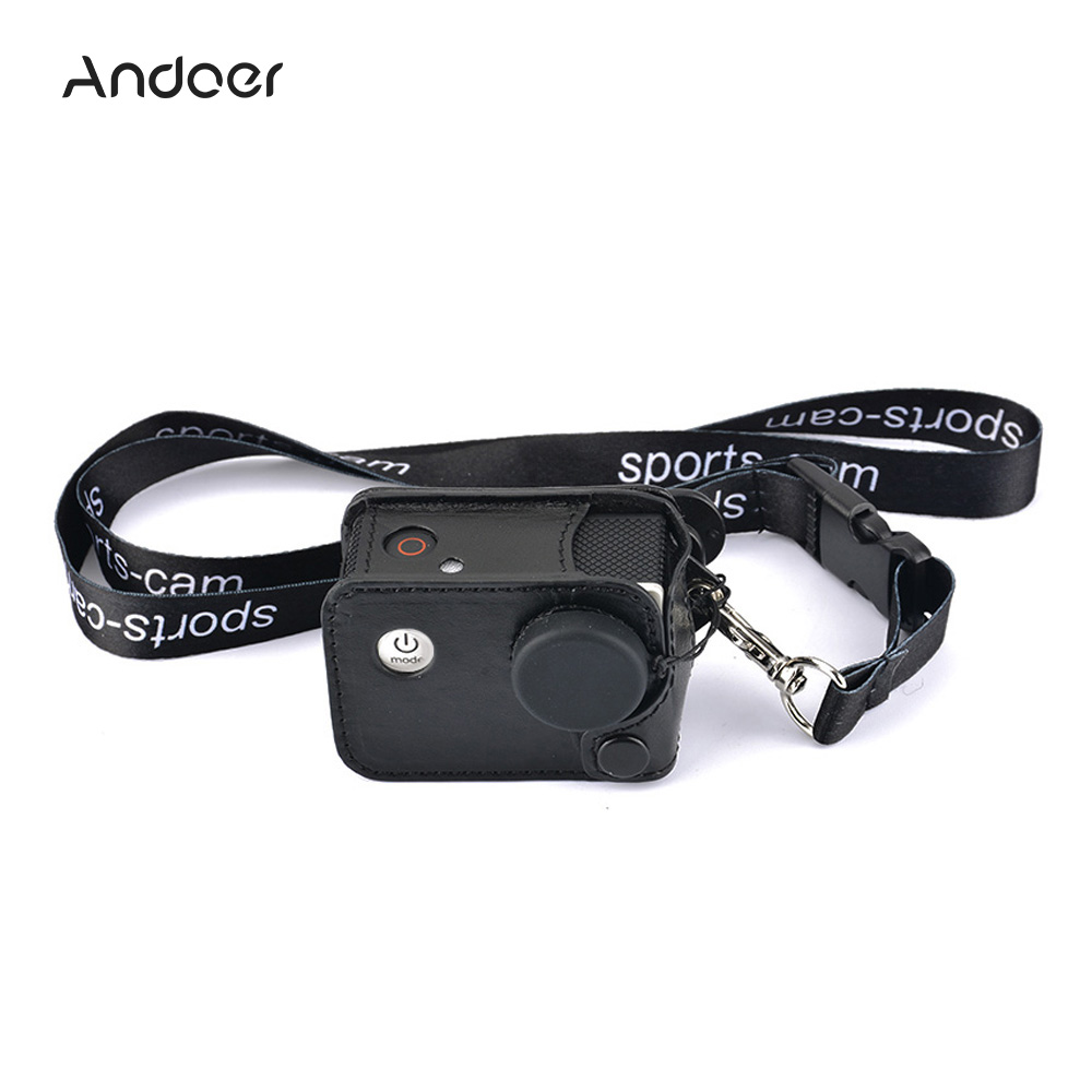 Digital Gear Bags Andoer Multifunctional Clip-on Camera Case Carrying Camera Bag W/ Neck Lanyard Lens Cap For Sjcam Sj4000 Sj5000 Action Cameras
