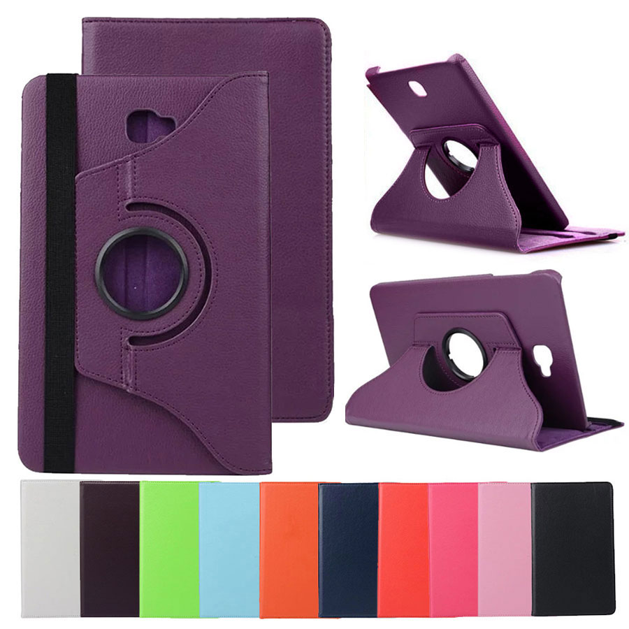 Eagwell 360 Rotating PU Leather Case For Samsung Galaxy Tab A 10.1 inch SM T580 T585 Tablet Flip Stand Cover Protective Case 100pcs lot luxury 360 degrees rotating stand pu leather flip case cover for samsung galaxy tab a 10 1 t580 android tablet t580
