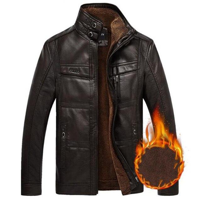 19636727fc77 NIANJEEP chaqueta de cuero de los hombres