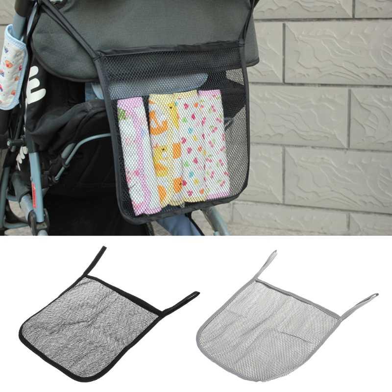 เก็บกระเป๋าตาข่ายแขวนสำหรับทารกแบบพกพาผ้าอ้อมร่มออแกไนเซอร์