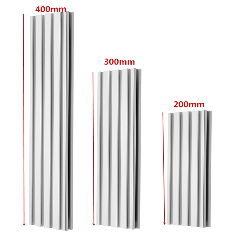 Brand New 1pc 200/300/400mm Length 2060 T-Slot Aluminum Profiles Extrusion Frame For CNC 3D Printers Plasma Lasers Stands