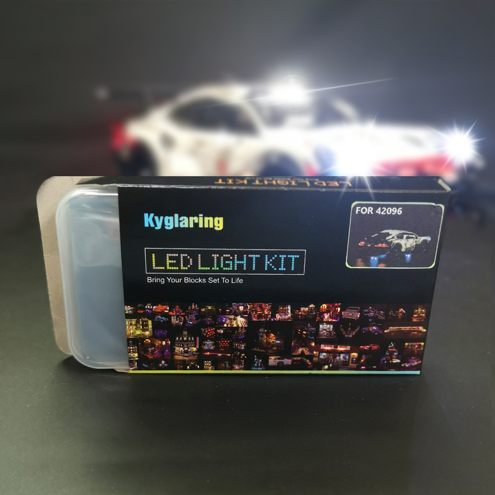 Kyglaring LED Light Kit (only light included) for lego 42096 and 20097 The 24 hours Race Car ( the car not included)