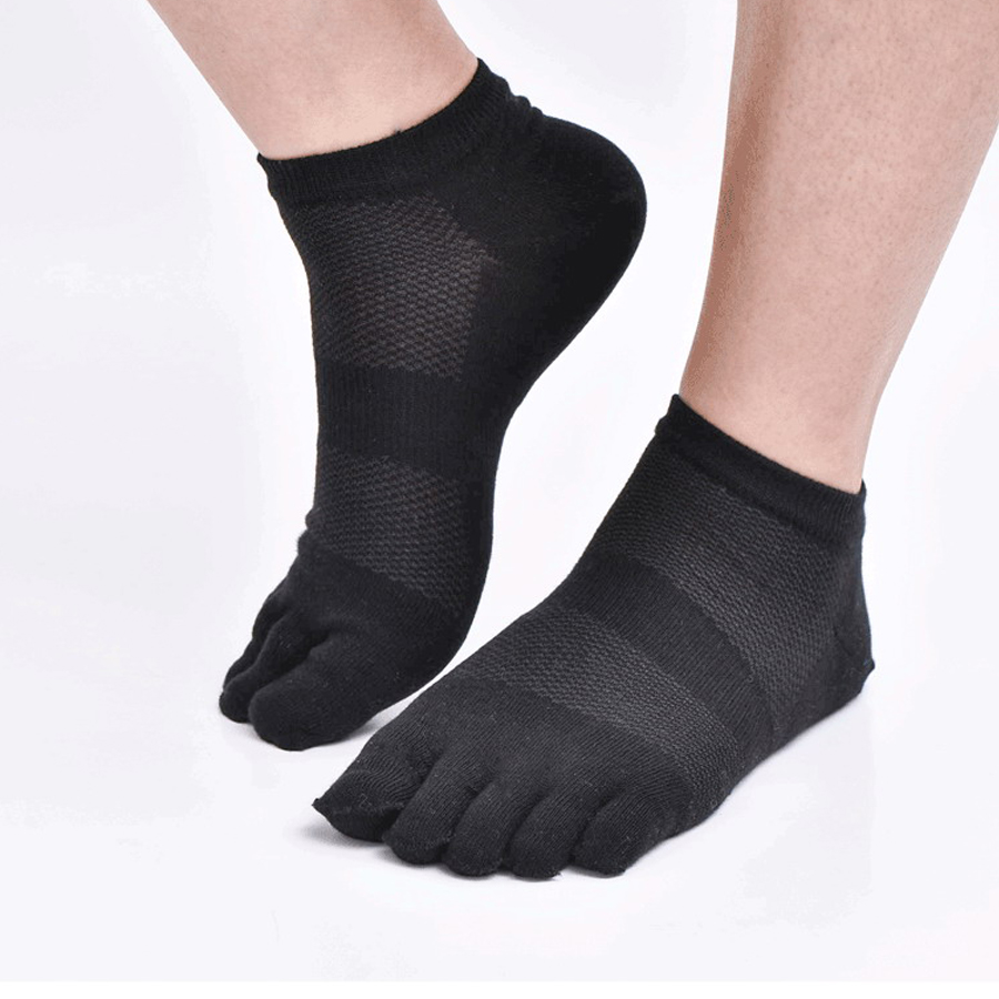 VERIDICAL 10pieces=5pairs=1lot spring and summer five fingers socks Mesh compression toe socks men cotton boat crew socks short