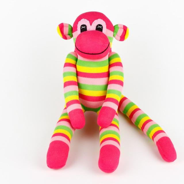 Stuffed Toy Birthday Party Sock Monkey Happy Birthday Banner Baby Toy Party Birthday Moneky Party