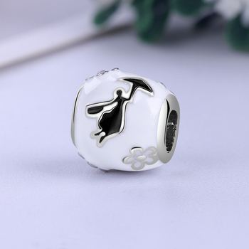 Free Shipping Sliver Plated Bead Mickey Fairytale Dumbo Love Charm Fit Pandora Bracelet Necklace 5