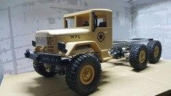 RC Pièces de rechange Essieu arrière faisceau fixe Mont pour WPL 1//16 camion militaire bleu
