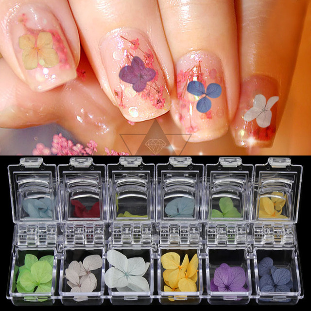 3d Nail Art Decoration Beauty 12 Color Three Dimensional Real Nature