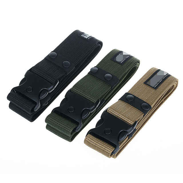 US $4 77 8% OFF|Blackhawk Camouflage Mens Army Military Tactical Belt  Adjustable Nylon Black Hawk Outdoor Heavy Duty Combat Belts-in Waist  Support