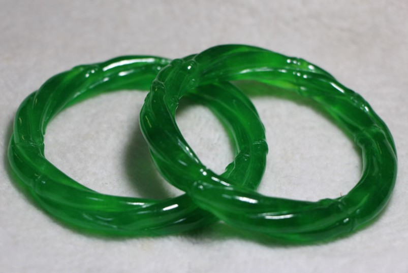 Fashion Style Chinese Natural Jade Hand Polished String Bracelet Jewelry & Watches