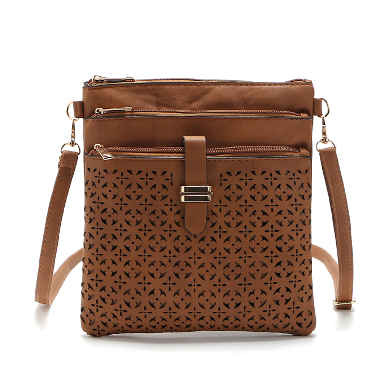 Fashion Small Bag Women Messenger Bags Soft PU Leather Hollow Out ...
