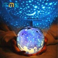 ITimo LED Night Light USB Lamp Rotation Novelty Lamp For Baby Children Universe Starry Star Moon