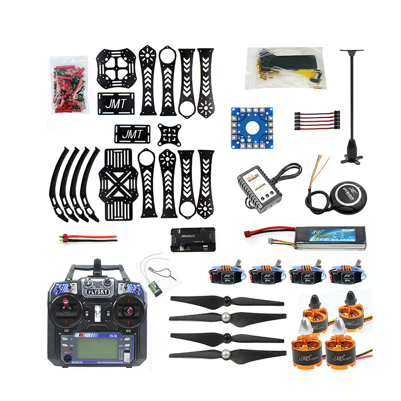 DIY Full set RC Drone X4M360L Frame Kit with GPS APM 2.8 RX FS-i6 6CH Transmitter Receiver Quadcopoter