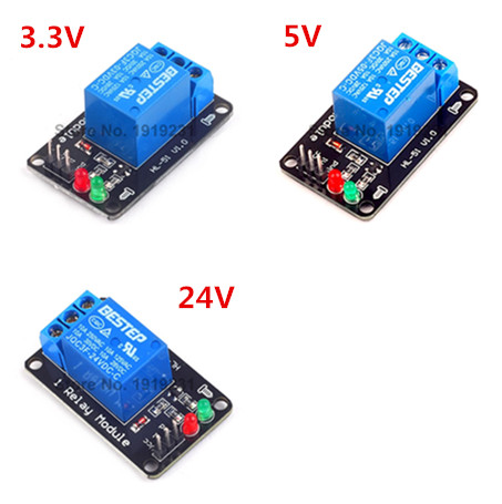 3.3V 5V 24V 1 Channel Relay Module Low Trigger with light Relay Module 3ch 5v relay module w opticalcoupler protection red blue