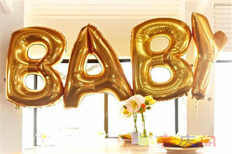 40 インチ金の巨大手紙ホイルバルーン結婚式の装飾インフレータブルヘリウムハッピーバースデー手紙バルーンイベントパーティー用品