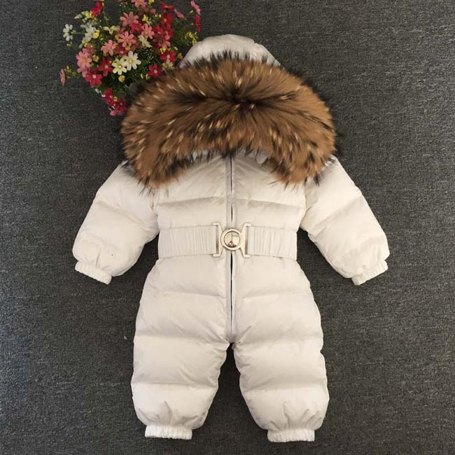 Children s down jumpsuit winter cotton padded jacket