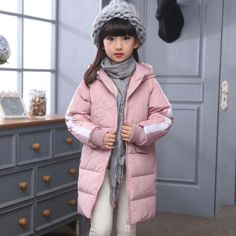 2017 New fashion Children's clothing white Duck Down Jackets girls hooded autumn winter coats casual kids outdoor ski outwear casual 2016 winter jacket for boys warm jackets coats outerwears thick hooded down cotton jackets for children boy winter parkas