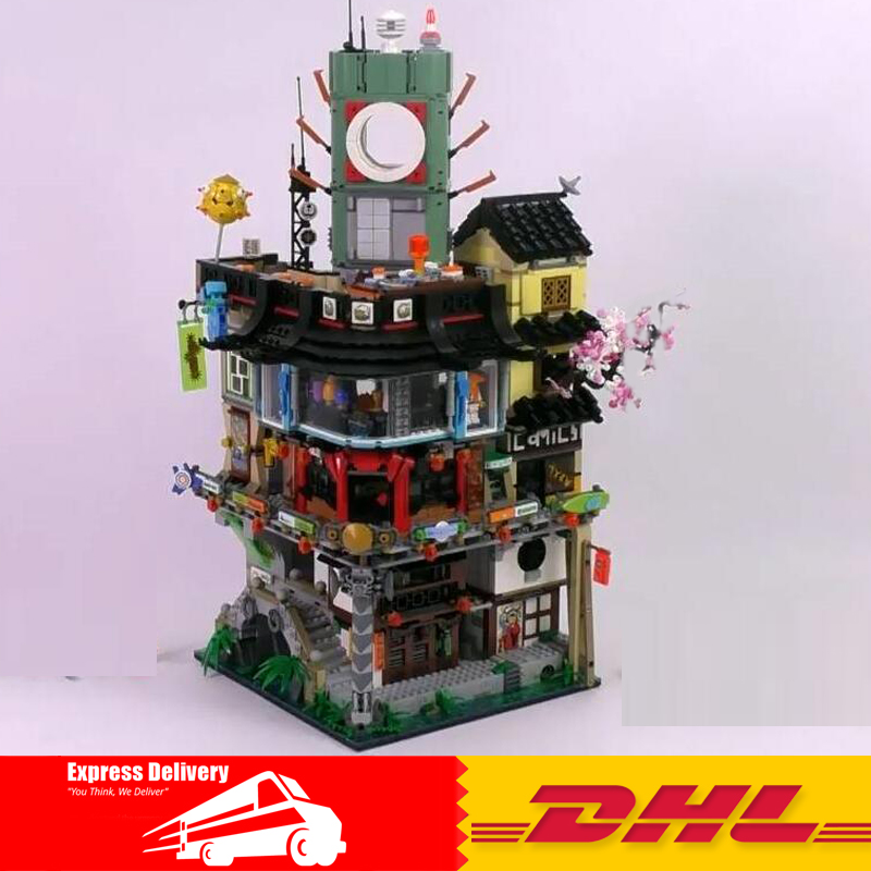 IN Stock DHL 4953pcs LEPIN 06066 Ninja City Construction 06066 lepin Model Building Blocks kid Toys Bricks Compatible 70620 dhl new lepin 06039 1351pcs ninja samurai x desert cave chaos nya lloyd pythor building bricks blocks toys compatible 70596