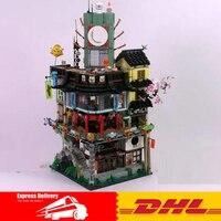 DHL 4953pcs LEPIN 06066 Ninja City Construction 06066 Lepin Model Building Blocks Kid Toys Bricks Compatible