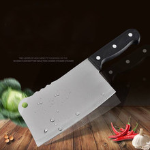 High Quality 7inch Stainless Steel Knife Heavy Duty Meat Bone Chinese Cleaver Kitchen Knife for Chopping and Dicing(China)