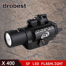 Tactical X400 Laser Light Combo Led Weapon Gun Red Flashlight Handgun Scout Rail Mounted for Hunting