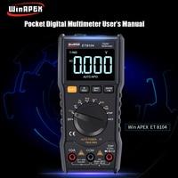 Digital Multimeter Professional Voltmeter Ammeter with LCD Color Screen Multitester Mini Multimeter Capacitor Tester Multi Meter