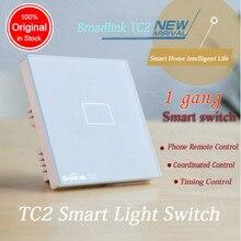 UE/EE.UU./REINO UNIDO Estándar TC2 1 Pandilla Casa Inteligente Aplique el Control Remoto Inalámbrico Broadlink Wifi Pantalla Táctil de Luz de Pared interruptor IR + RF trabajar con pro