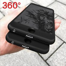 Soft Screen Protector Glass Film Phone Case for iPhone 7 Case 7Plus 6 6sPlus 360 Full Body Silicon Cover for iPhone 8 8Plus Case(China)