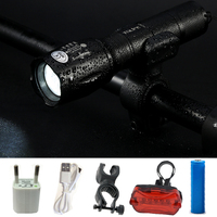 Bicycle Light E17 CREE XM L T6 3800Lumens Bike Bicycle Flashlight Flash Light Torch With Mount