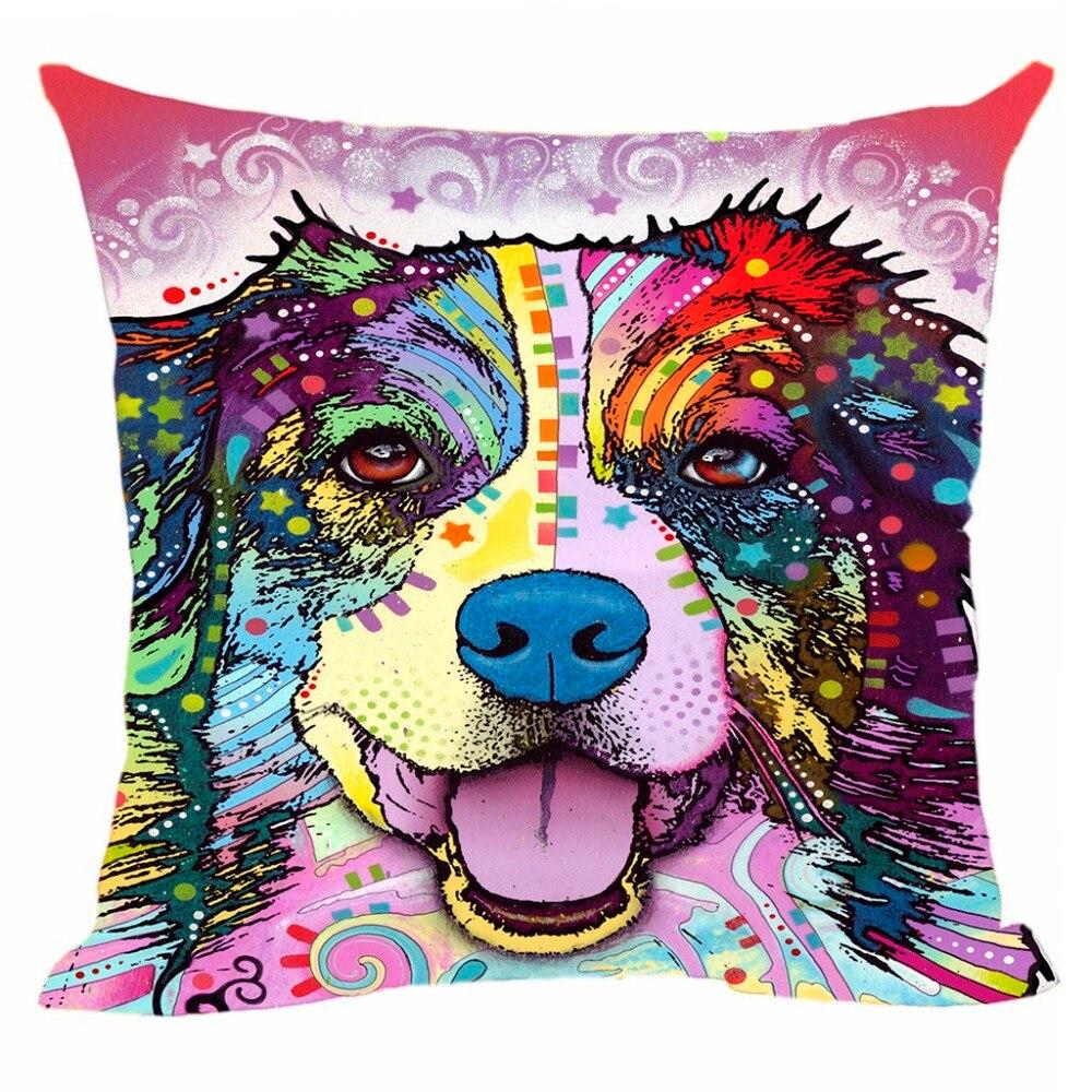 Akita Border Collie Bulldog kussenhoes Hond decoratief kussen voor - Thuis textiel