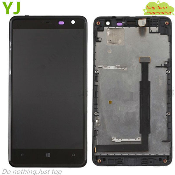 HK free shipping 100% Tested For Nokia Lumia 625 LCD Screen and Digitizer Assembly with Front Housing OEM