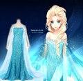 Envío gratis por encargo de la película Cosplay princesa Elsa Dress de dibujos animados
