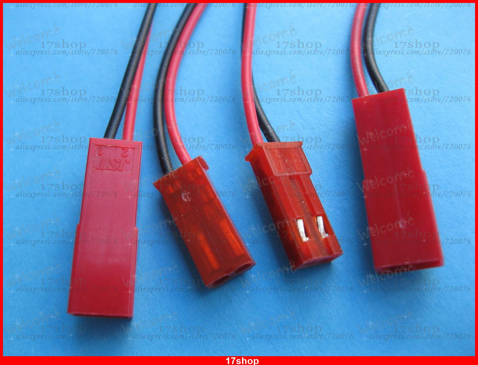 цена на 100 Pairs JST 2 Pin Male & Female Connector Plug with 26AWG Wire 150mm