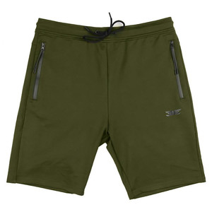 Image 5 - Pantalones cortos de algodón de alta calidad para hombre, Shorts informales de marca, a la moda, con bolsillos y cremallera, color rojo, para correr, para verano, 2019