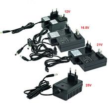 12 В 16,8 в 21 в 25 В литиевая батарея, электрическая дрель, шуруповерт, зарядное устройство, штепсельная Вилка для ЕС/США, отвертка, зарядное устройство